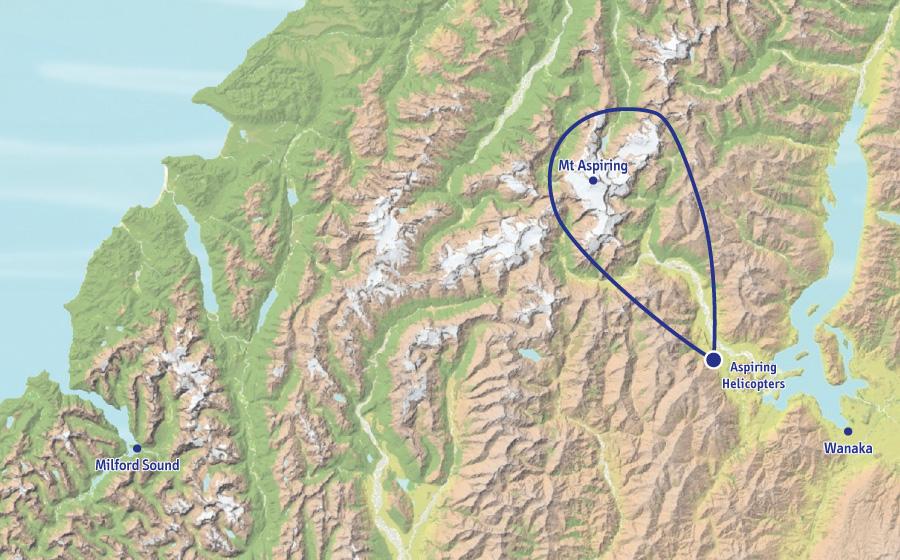 阿斯帕林山和冰川群观光飞行