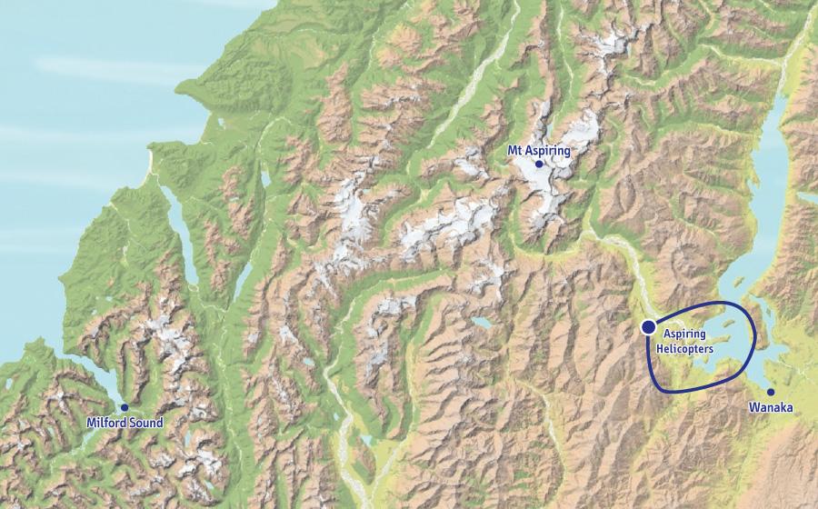 瓦纳卡湖观光飞行