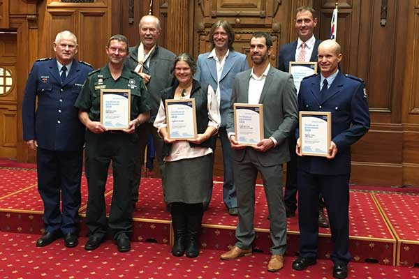 Award of recognition for Search and Rescue