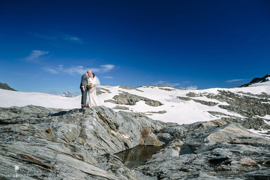 Isobel Glacier heli wedding