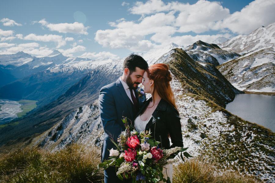 Alta Tarns Wanaka Heli Wedding