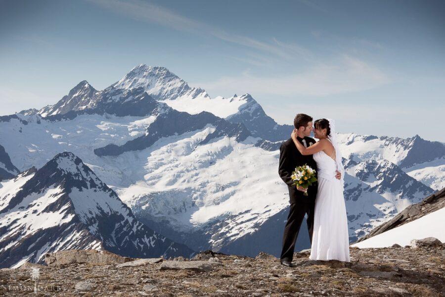 Fog Peak Wanaka Heli Wedding Summer