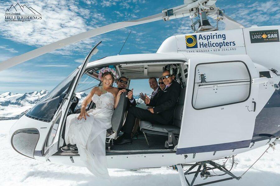 Isobel Glacier Wanaka Heli Wedding